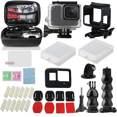 For GoPro Hero7 White/Silver Waterproof Case Diving Protective Housing Shell 40m
