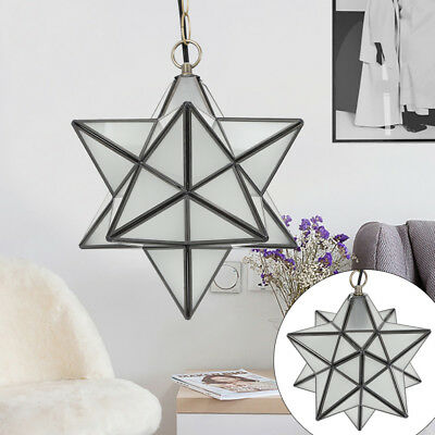 Frosted Star Pendant Light Glass Shade Lamp Ceiling Light Fixture Chandelier USA