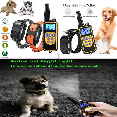 US Dog Training Electric Collar Rechargeable Remote Control Waterproof 875 Yards