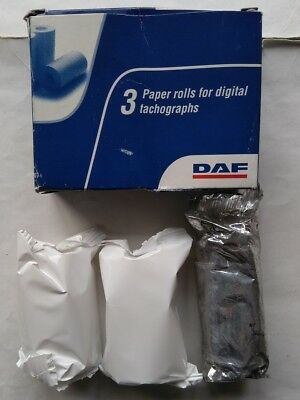 3 x Digital Tachograph Paper Rolls DAF Box Of 3 Genuine DAF Part 1680977 NEW