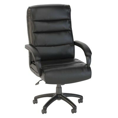 Bush Business Soft Sense High Back Leather Executive Office Chair in Black