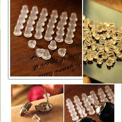 100x earring plastic rubber plug stud stoppers findings post back backs backing
