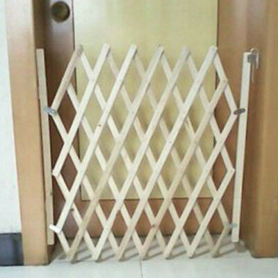 Expanding Portable Fence Wooden House Safety Gate For Puppy Dog Pet/Cat Kid Play