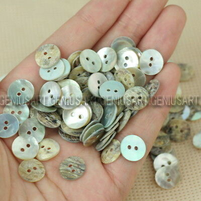 Lot of 100pc Mother of Pearl Shell Buttons Sewing 2 Holes Round 10mm New