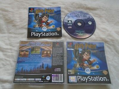 Harry Potter & the Philosophers Stone PS1 Sony Playstation COMPLETE WITH MANUAL