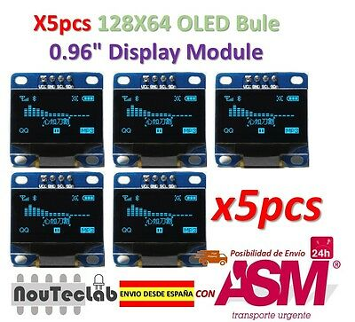 5pcs OLED Display 128X64 OLED LCD LED Display Module I2C IIC SPI Serial