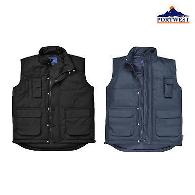 Portwest Classic Body Warmer Men Jacket Padded Shower Proof Warmth WorkWear S415