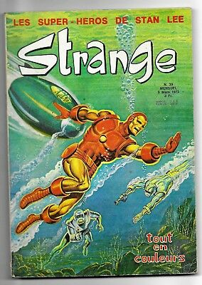 Bd-Comics- Strange 39 - Eo 1973 - Lug Editions - Stan Lee-   Tbe