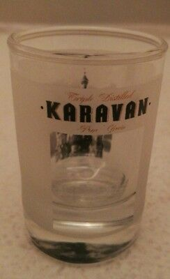 Karavan Vodka shot glass drinking glass