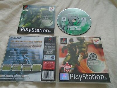 ISS PRO EVOLUTION Soccer PS1 game Sony Playstation COMPLETE WITH MANUAL