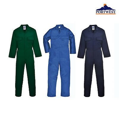 Portwest Euro Work Polycotton Coverall S999 - Safetywear Protective Boiler Suit