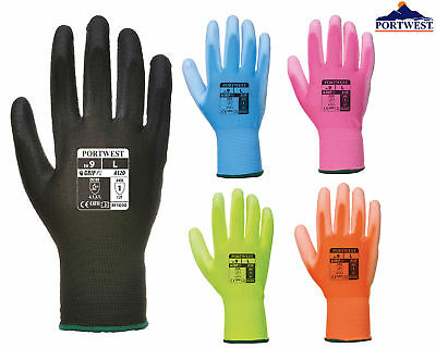 Portwest PU Palm Coated Glove A120- Breathable Protective Safety Workwear Gloves