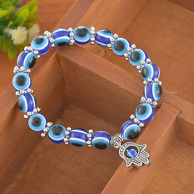 Charm Evil Eye Bead Protection Good Luck Bracelet Jewelry Hamsa Hand Bracelet EP