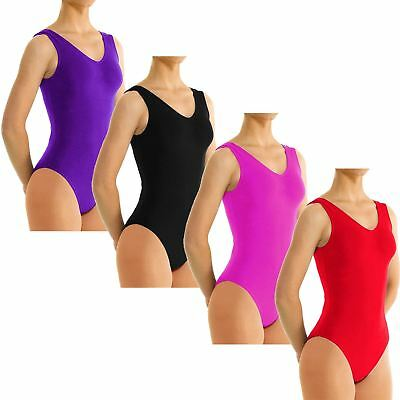 Girls Kids Sleeveless Leotards Dance Gymnastics Ballet Pe School Uniform Top