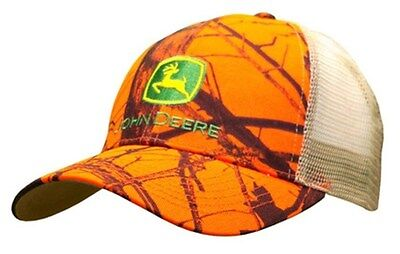 7376df11716 NEW JOHN DEERE Mossy Oak Camo Cap w Suede - Officially Licensed ...