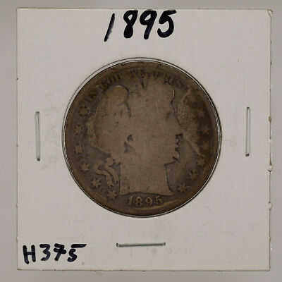 1895 50c SILVER BARBER HALF DOLLAR  LOT#H375