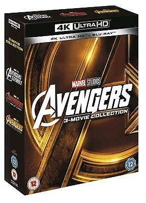 AVENGERS 1-3 [4K Ultra HD + Blu-ray] Complete Trilogy Collection Marvel MCU UHD