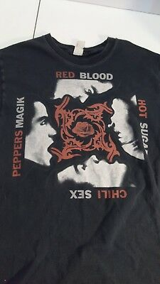 f9149ab1 VTG 90s Red Hot Chili Peppers Blood Sugar sex T Shirt Men's Small used faded