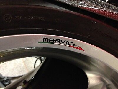 Marvic Wheel Rim Stickers x 4 Front And Rear MV Agusta Ducati Aprilia Bimota