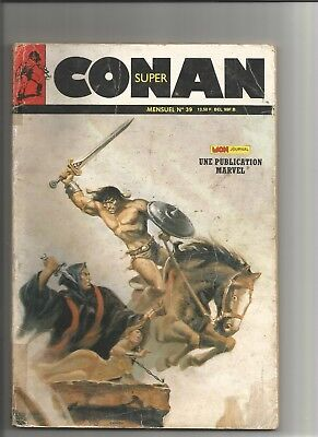 french conan the barbarian comic. super conan number 39. december 1988.