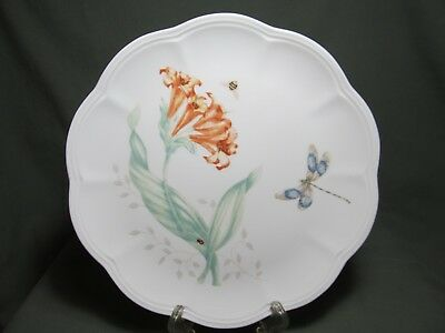"""Lenox Butterfly Meadows 9 1/8"""" Accent Luncheon Plate ~ Dragon Fly"""
