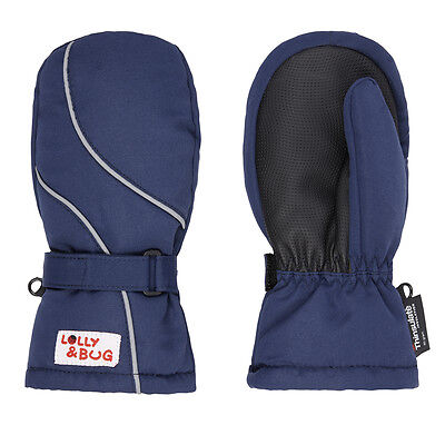 waterproof and warm gloves blue mittens 4-6 years