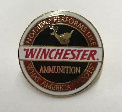 Winchester Firearms Factory Licensed Hat Lapel Pin Tie Tac Dated 1996