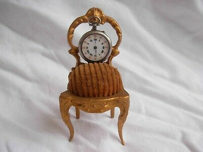 AMAZING ANTIQUE FRENCH GILT SPELTER POCKET WATCH HOLDER,LATE 19th CENTURY.