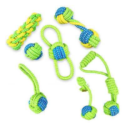 Play Cotton Dog Rope Toy Node Puppy Chew  Pet Teeth Ball Braided Cotton