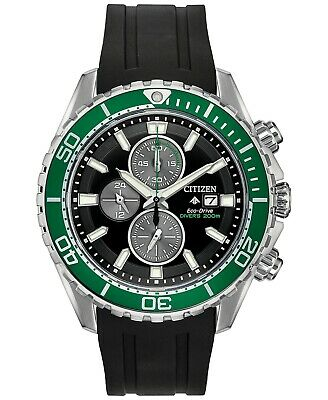 Citizen Eco-Drive Men's Promaster Diver Black Rubber Strap Watch CA0715-03E