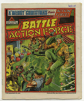 Battle Action Force 28th Dec 1985 (very high grade) special Christmas cover