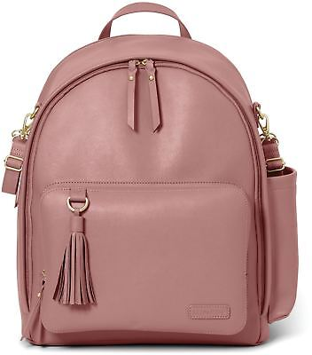 Skip Hop GREENWICH SIMPLY CHIC BACKPACK CHANGING BAG - DUSTY ROSE Baby Bag BNIP