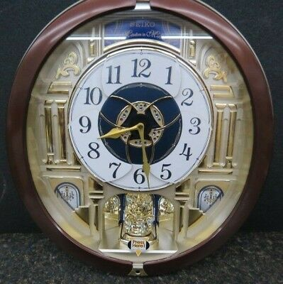 Seiko QXM541BRH Special Edition in Motion Clock with 18 Melodies