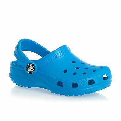 Crocs Kids UK 1.5 to 2 M2/W4 Ocean Blue Roomy Fit Clog Summer Sandals Shoes BNWT