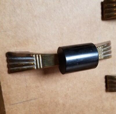 "3"" Brass with Black Bakelite Vintage Drawer Pull Handle, Art Deco Style Hardware"