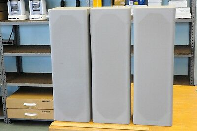 "Trio of NEAR NCS-333 small column speakers w. four 4"" special drivers in each"