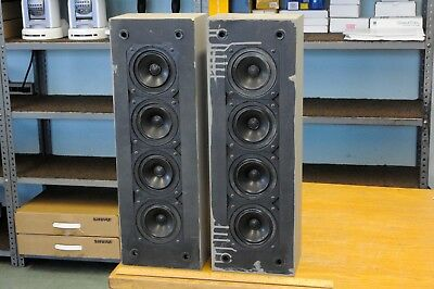 """Pair of NEAR NCS-333 small column speakers w. four 4"""" special drivers in each"""