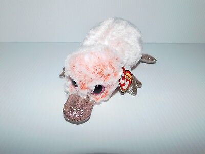 4ff3e090a79 New Ty Beanie Boos Pink Wilma Platypus with Glittery Shimmer Bill and Feet