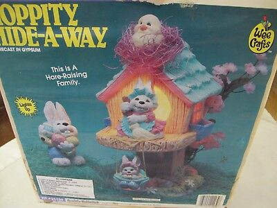 Wee Crafts Easter Lighted Hoppity Hide A Way Tree House Bunny Rabbits