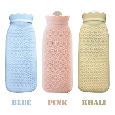 Hot Water Bottle Collapsible Fleece Bag Quality Portable Rubber Bottles Cosy