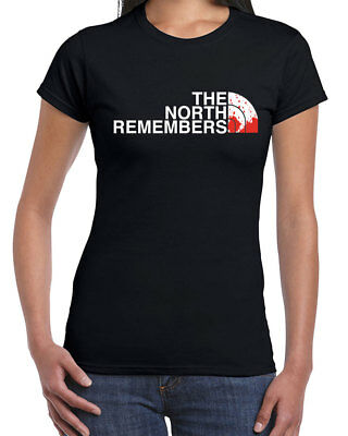 465 The North Remembers Womens T-shirt wintefell king house stark jon snow new