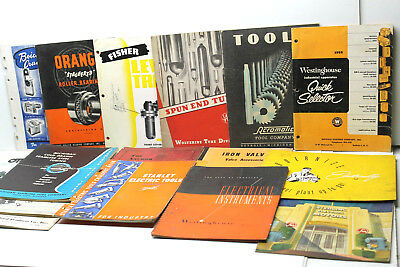 15 pc Vintage 1940s 1950s Industrial Product Catalogues Stanley+Westinghouse++++