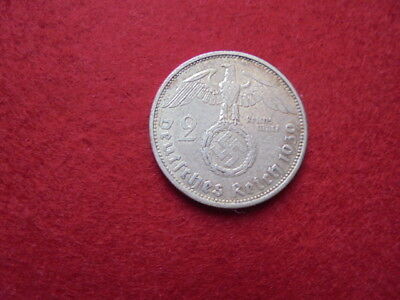 wwii German silver coin