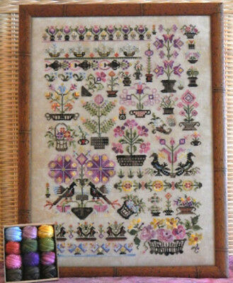 Baskets! Sampler Rosewood Manor Cross Stitch Pattern or Kit