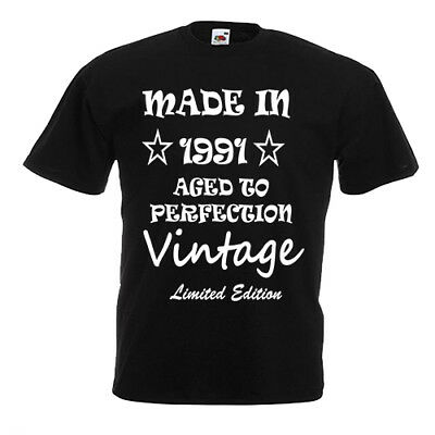 Made in 1991 aged to perfection t shirt vintage limited edition T103