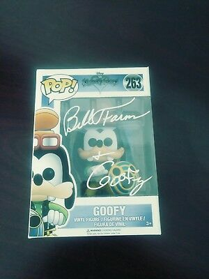 Bill Farmer Autographed Signed Goofy Funko Pop Disney Jsa Coa Protector Case