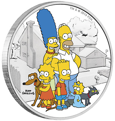 2019 Simpson Family 2oz $2 Silver .9999 Proof Coin