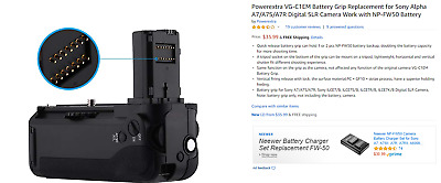 Powerextra VG-C1EM Battery Grip Replacement for Sony Alpha A7/A7S/A7R