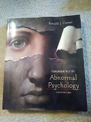 Fundamentals of Abnormal Psychology by Ronald Comer 2011 6th Sixth edition book