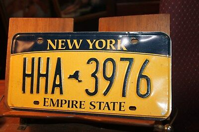 2010 New York Empire State License Plate HHA 3976